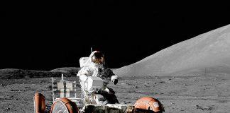 Pojazd księżycowy misji Apollo 17, na powierzchni Księżyca