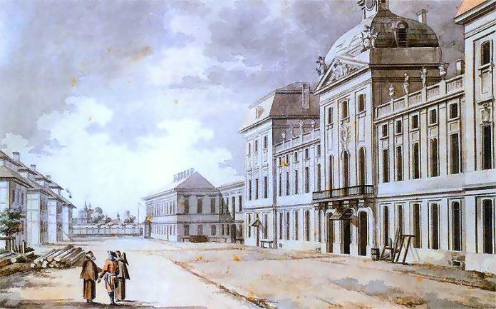 Szkoła Rycerska akwarela Zygmunta Vogla