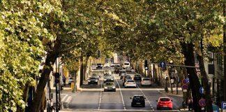 ruch uliczny, miasto
