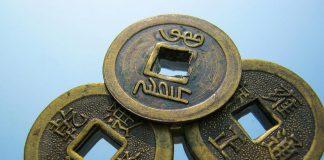 Chińskie monety, z dziurką w środku