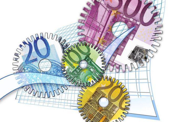 Banknoty Euro w kształcie zębatek