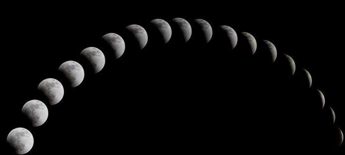 Super Księżyc, kolaz fotograficzny, Quiz Astronomiczny