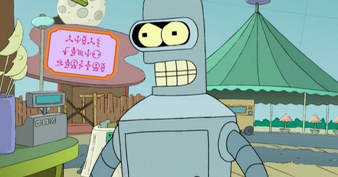 Bender z Futuramy-Bender to po ang. pijak-quiz o serialach animowanych