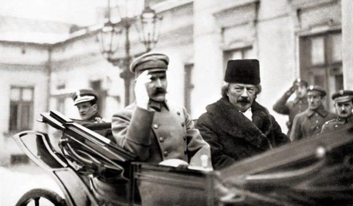 Józef Piłsudski i Ignacy Paderewski styczeń 1919, odzyskanie przez Polskę niepodległości