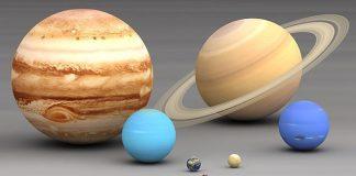 Planety Układu Słonecznego, porównanie wielkości