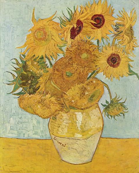 Słoneczniki - Vincent Willem van Gogh - arcydzieło malarstwa światowego - quiz