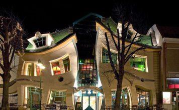 Krzywy dom w Sopocie-śmieszne nazwy miast-quiz o Polsce