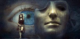 Zdięcie fantasy-maska, dziewczyna, oko-typy osobowości-quiz