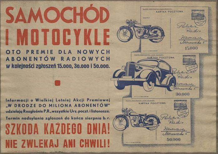 Ulotka z lat 30. zachęcająca do abonamentu radiowego-quiz technika