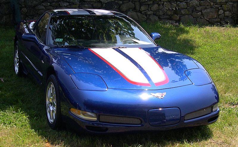 Chevrolet Corvette C5-niebieski-Supersamochód