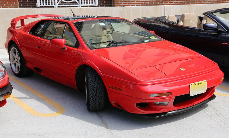 Lotus Esprit V8 type 918-czerwony-Supersamochód