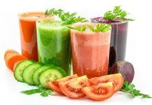 Zdrowy, kolorowy sok warzywny