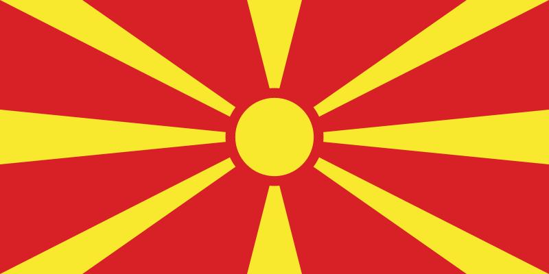 Macedonia Północna flaga