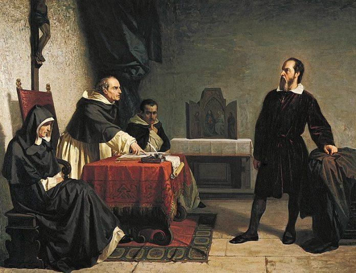 Galileusz przed Świętą Inkwizycją obraz autorstwa Cristiano Banti